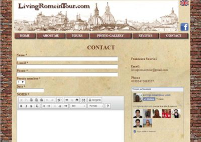 Living Rome In Tour - Contact