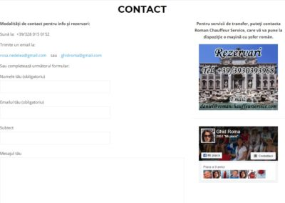Ghid Roma - Contact
