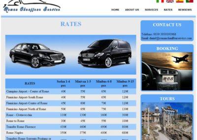 Roman Chauffeur Service - Listino Prezzi